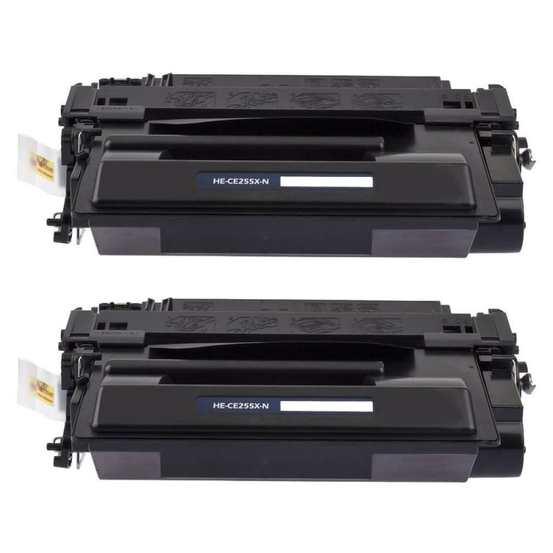 Compatible HP 55X CE255X Black Toner Cartridge High Yield - Economical Box