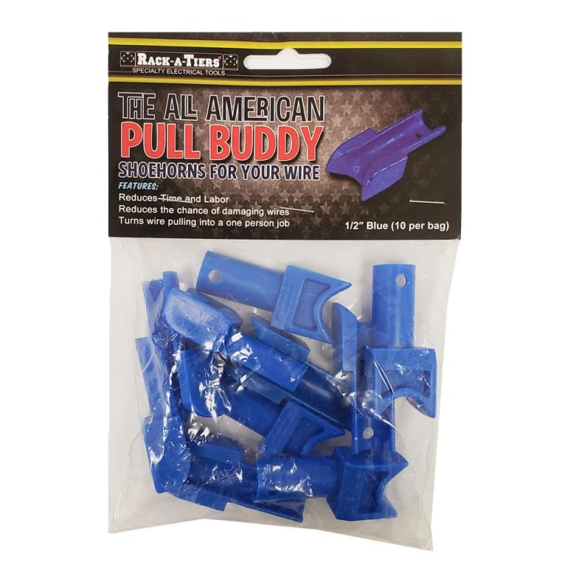 1/2 Inch Conduit Wire Pulling Guides, Blue, Pack of 10
