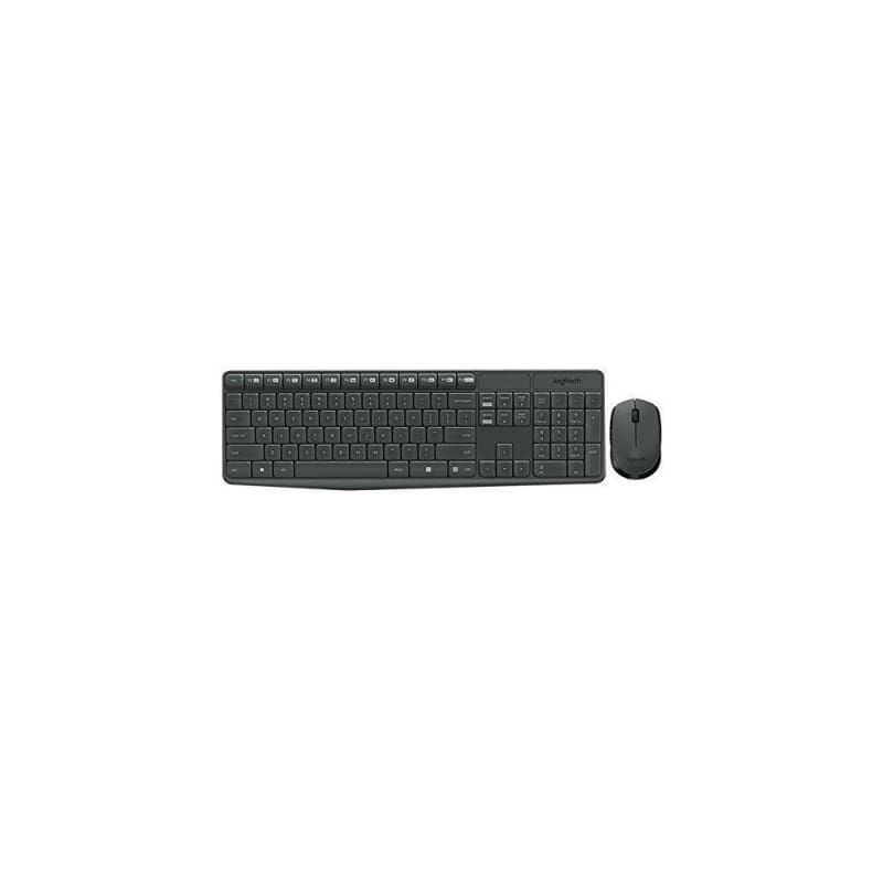 Logitech MK235 Wireless Keyboard & Mouse Combo, Gray, English