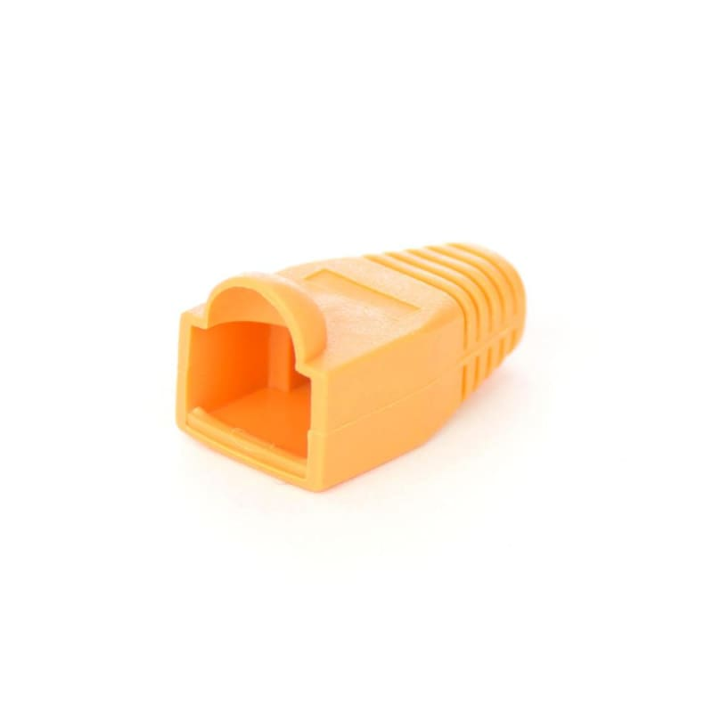 Cat5e Cat6 RJ45 Ethernet Network Cable Strain Relief Boots, 50 Pcs/Bag - Orange - PrimeCables®