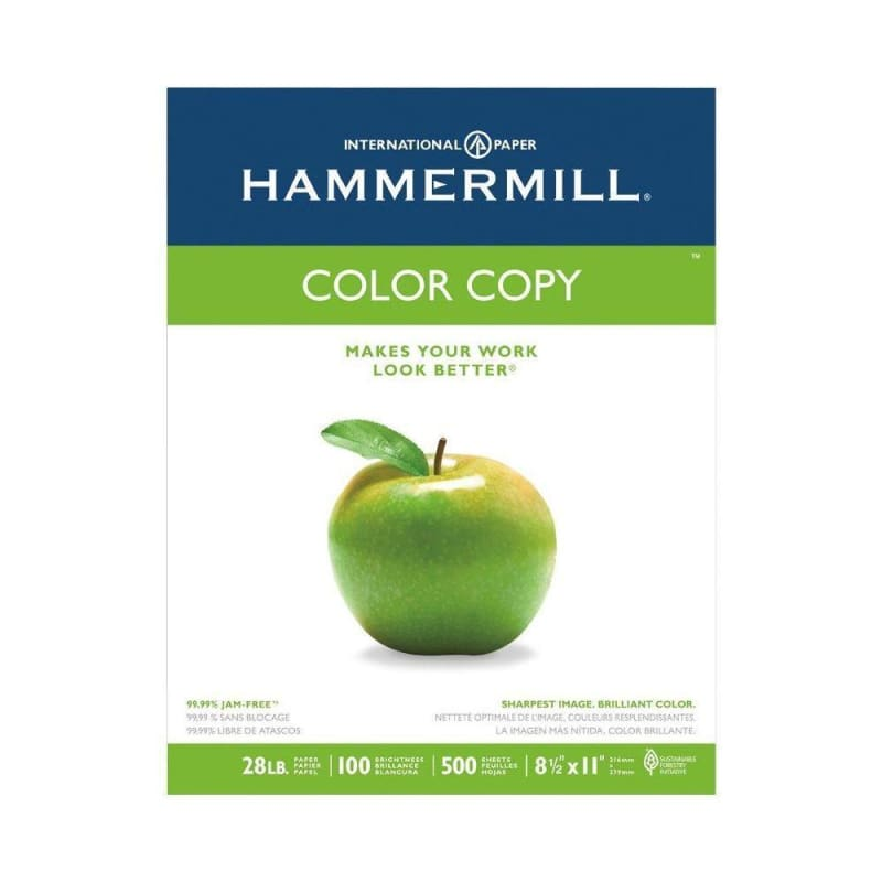 "Hammermill Color Copy Paper, 28 lbs, 8.5 x 14"", 500 Sheets, 8 Packs"