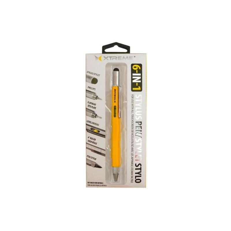 XTREME 6-IN-1 Multi-Tool Stylus Pen, Yellow (88571)