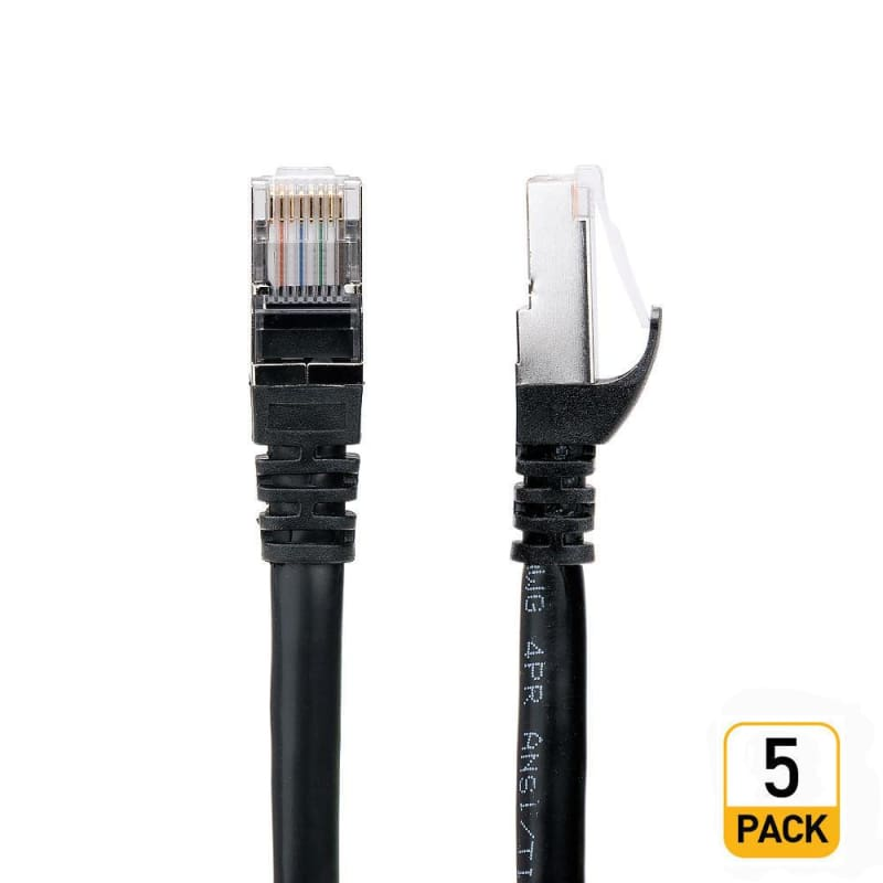 100Ft Cat 7 (S/STP) Network Cables - Black - PrimeCables®