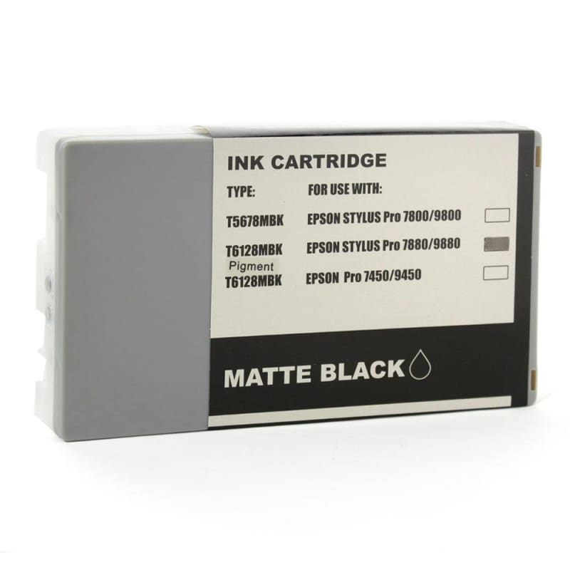 Compatible Epson T612800 Matte Black Ink Cartridge Pigment