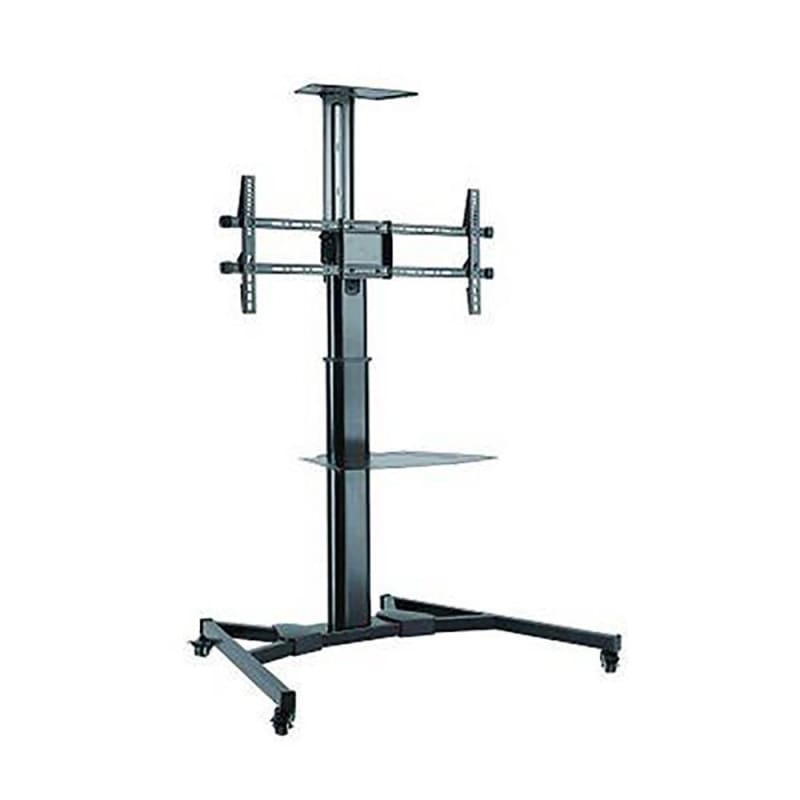"Adjustable Mobile TV Cart with Shelf for 37"" - 70"" LCD Monitor - Prime Mounts®"