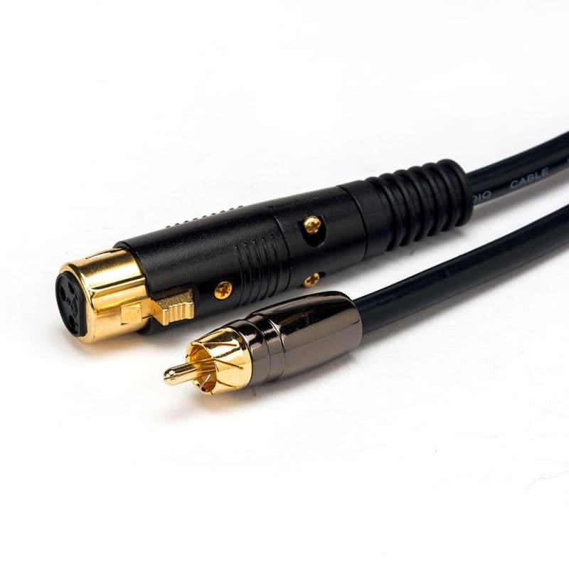 1.5ft Premier Series XLR Female to RCA Male 16AWG Cable (Gold Plated) - Monoprice®