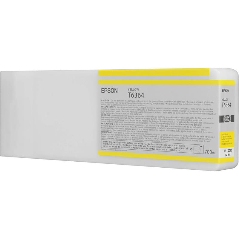 Epson T636400 700ml Original Yellow Ink Cartridge High Yield