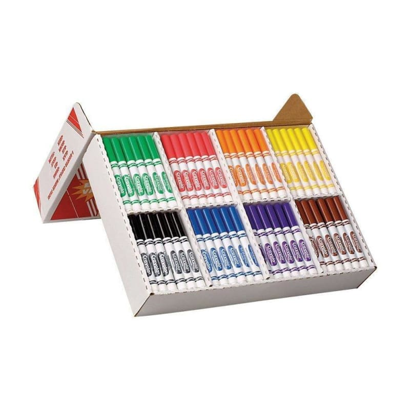 Crayola® Coloured Washable Markers, Box of 200 166983