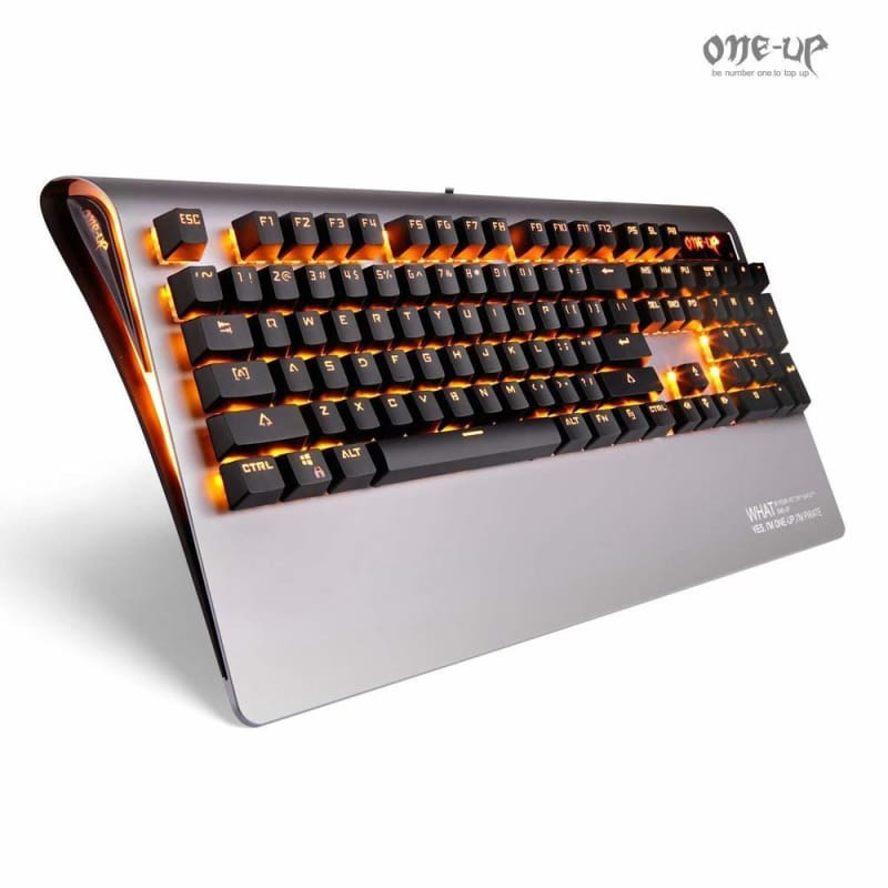 ONE-UP H9 Metal Cover Optical Switch 104 Keys Wired mechanical Gaming E-sports Keyboard