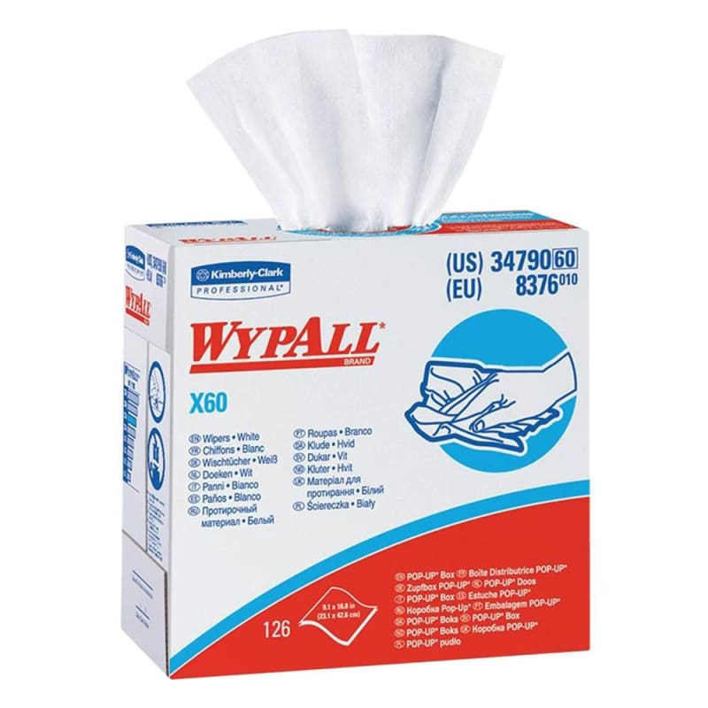 WypAll® X60 Reusable Wipers - Box of 126, White 146175