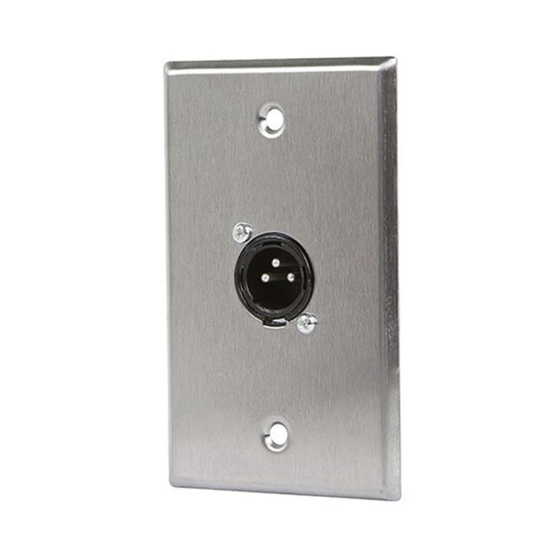 1-Port 3-Pin XLR Male Zinc Alloy Wall Plate - Monoprice®