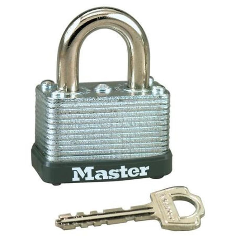 Master Lock 22D 1-1/2in (38mm) Wide Laminated Steel Warded Padlock 251389