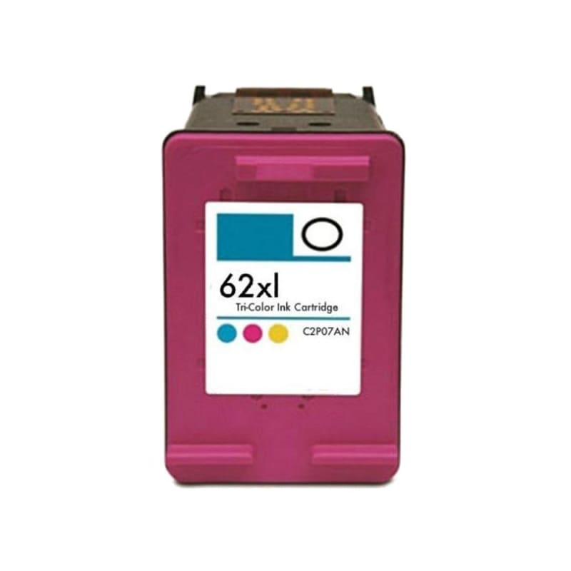 Remanufactured HP 62XL C2P07AN Tri-color Ink Cartridge High Yield