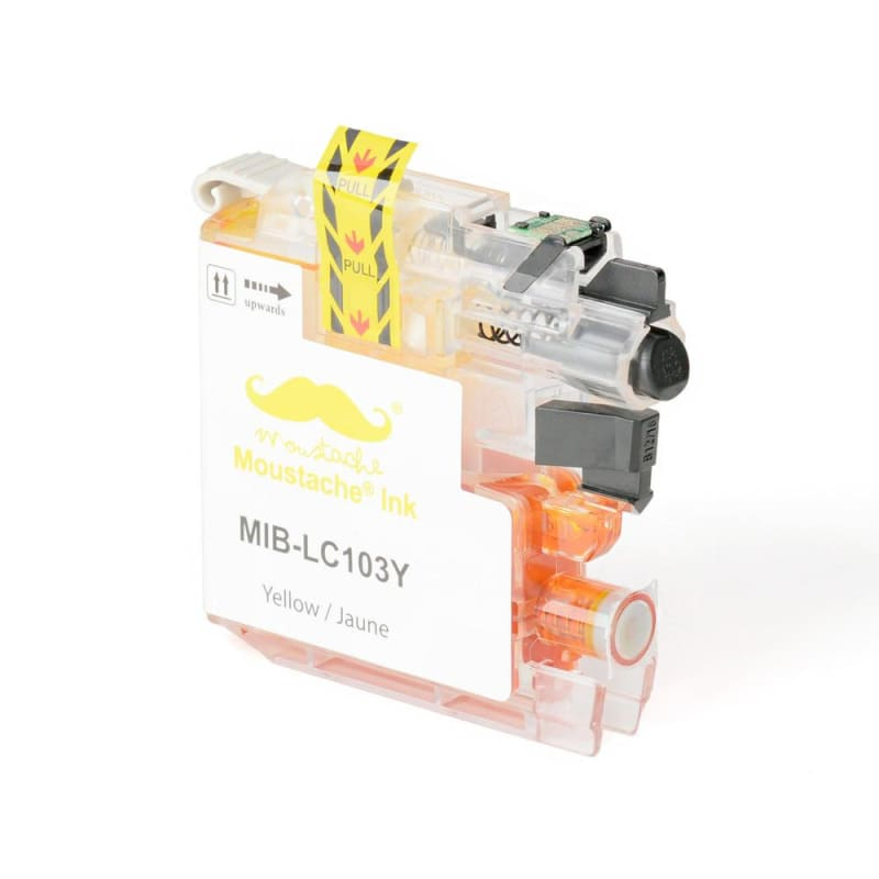 Compatible Brother LC-103Y Yellow Ink Cartridge High Yield - Moustache®