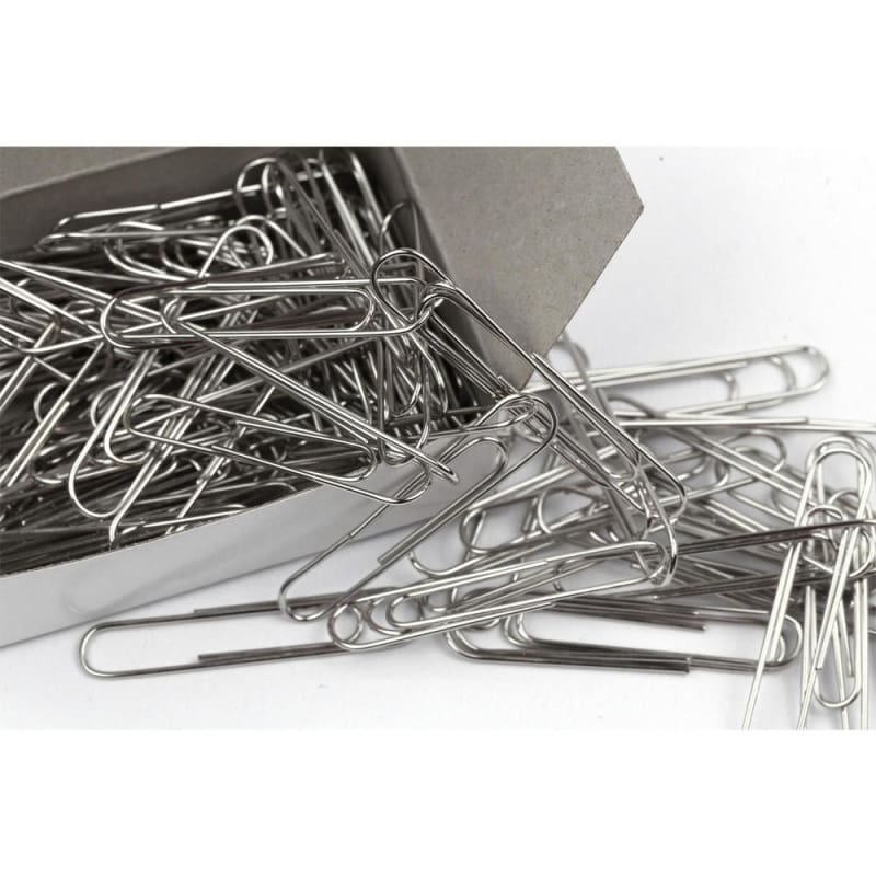 #1 Paper Clips, Silver, 100 pcs/Box - Moustache®