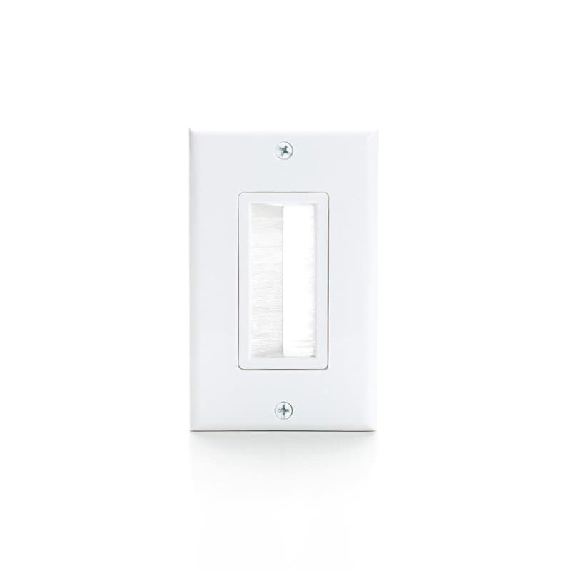 1 Gang Brush White Wall Plate, Decora Version - Primecables®