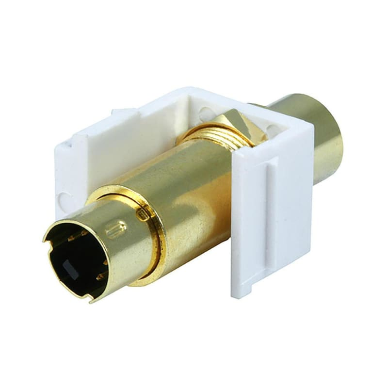 S-Video Mini 4Pin M/F Keystone Jack - White - Monoprice®