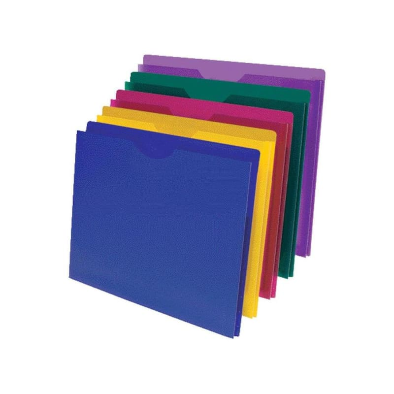 Pendaflex® Translucent Poly File Jacket, Assorted Colors