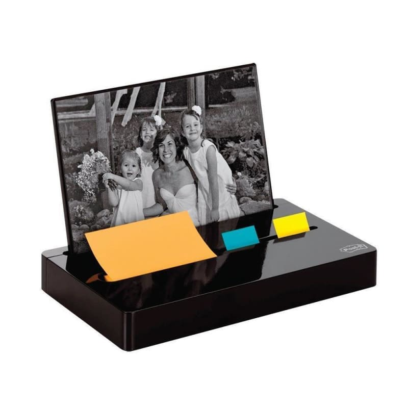 3M Post-it® Photo Frame Pop-Up Notes & Flag Disdpenser with Photo Frame, Black 369322