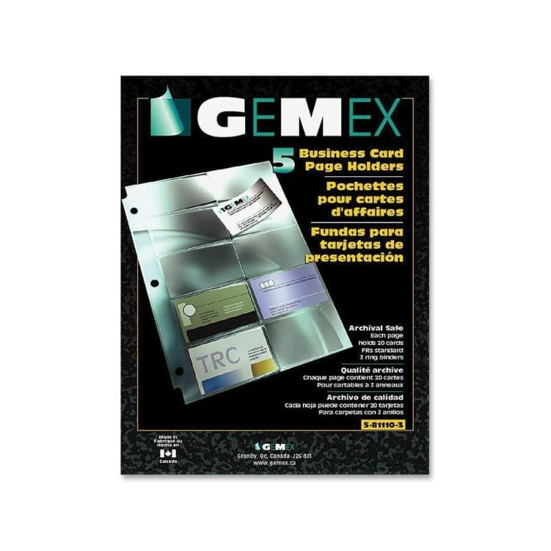 Gemex® Business Card Page Holder with Archival Quality