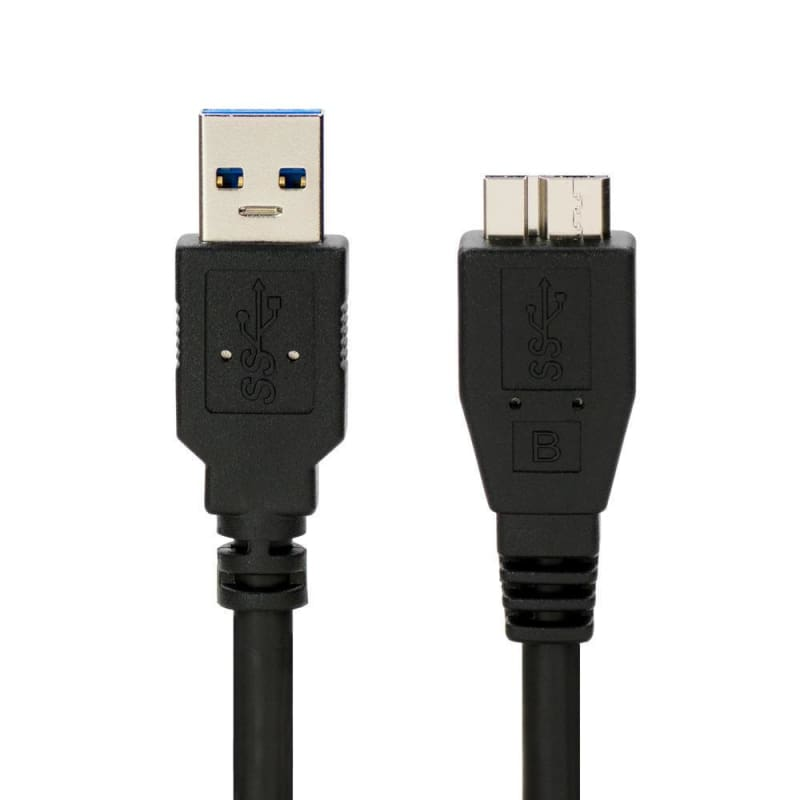 Premium USB 3.0 to Micro USB Charge & Sync Cables - Black - 6ft - PrimeCables®