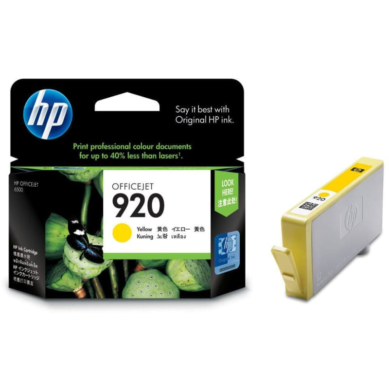 HP 920 CH636AN Original Yellow Ink Cartridge