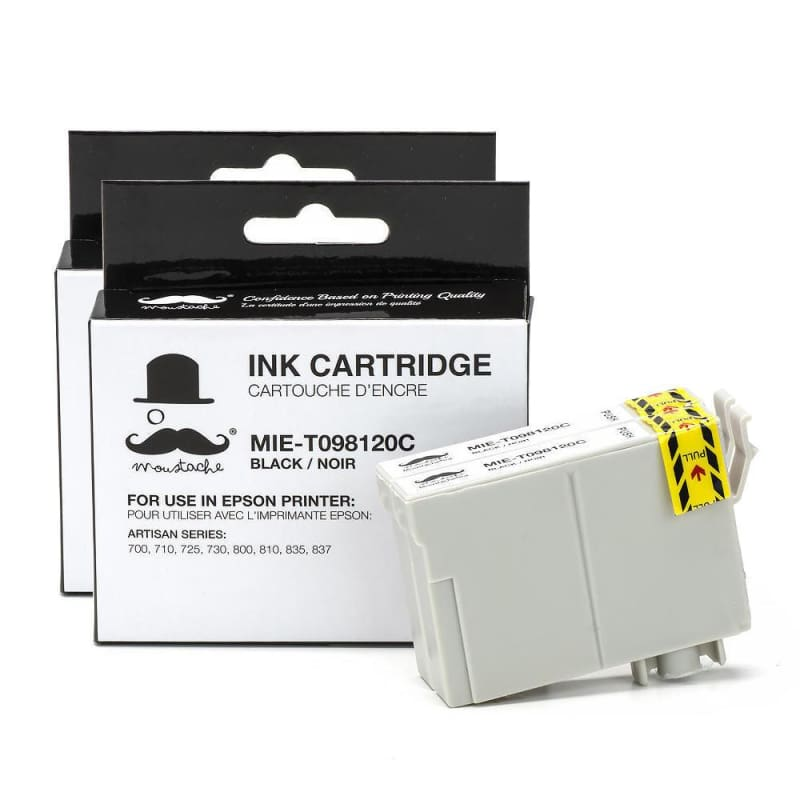 Compatible Epson 98 T098120 Black Ink Cartridge High Yield - Moustache®