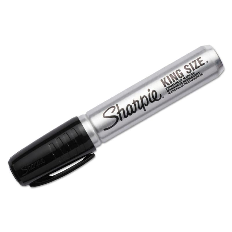 Sharpie® King Size™ Permanent Black Marker Industrial Strength, 12/Box