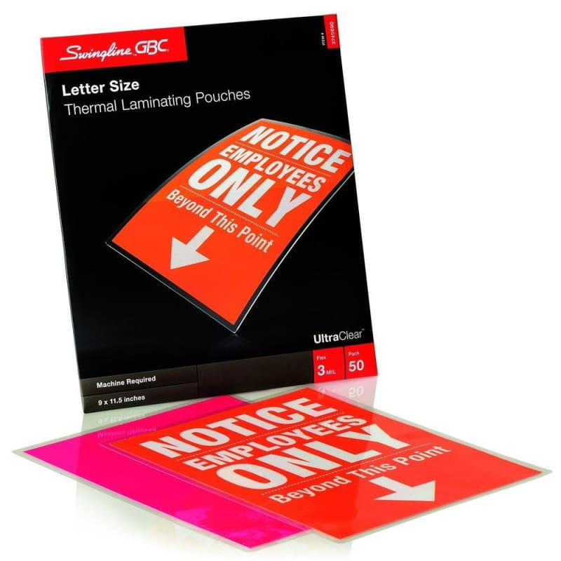 Swingline® GBC® UltraClear™ Thermal Laminating Pouches