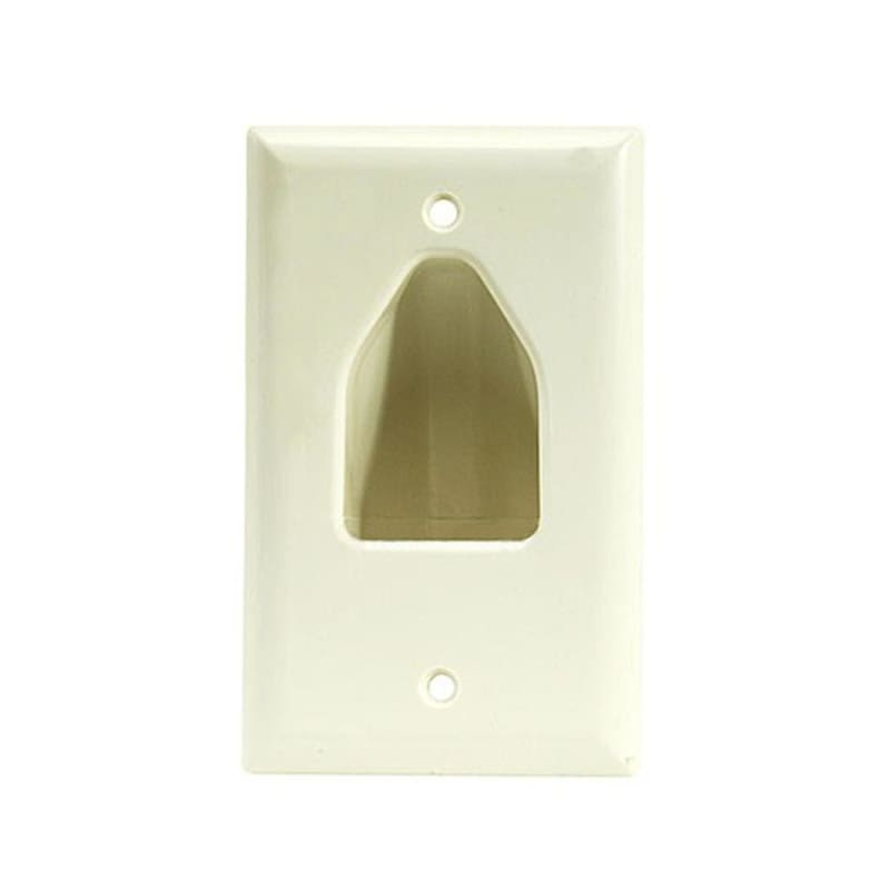 1-Gang Recessed Low Voltage Cable Wall Plate, Lite Almond - Monoprice®