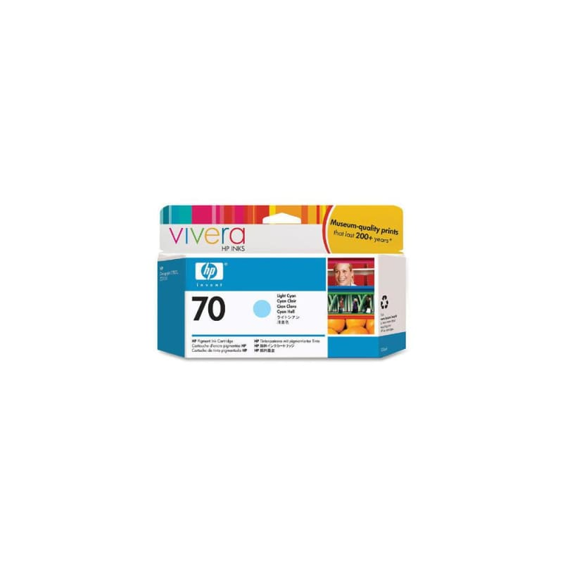HP 70 C9390A Original Light Cyan Ink Cartridge