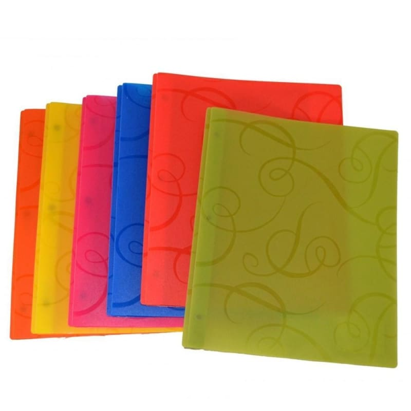 VLB DUO-TANG Swirl Report Cover - Random Colours, 1 cover per pack