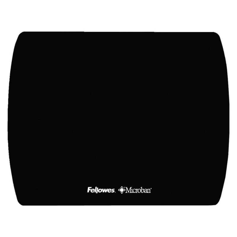 Fellowes® Microban® Ultra Thin Black Mouse Pad 121004