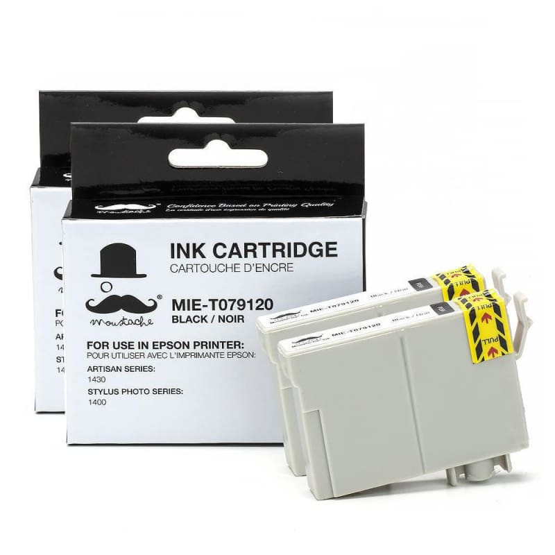 Compatible Epson 79 T079120 Black Ink Cartridge High Yield - Moustache®