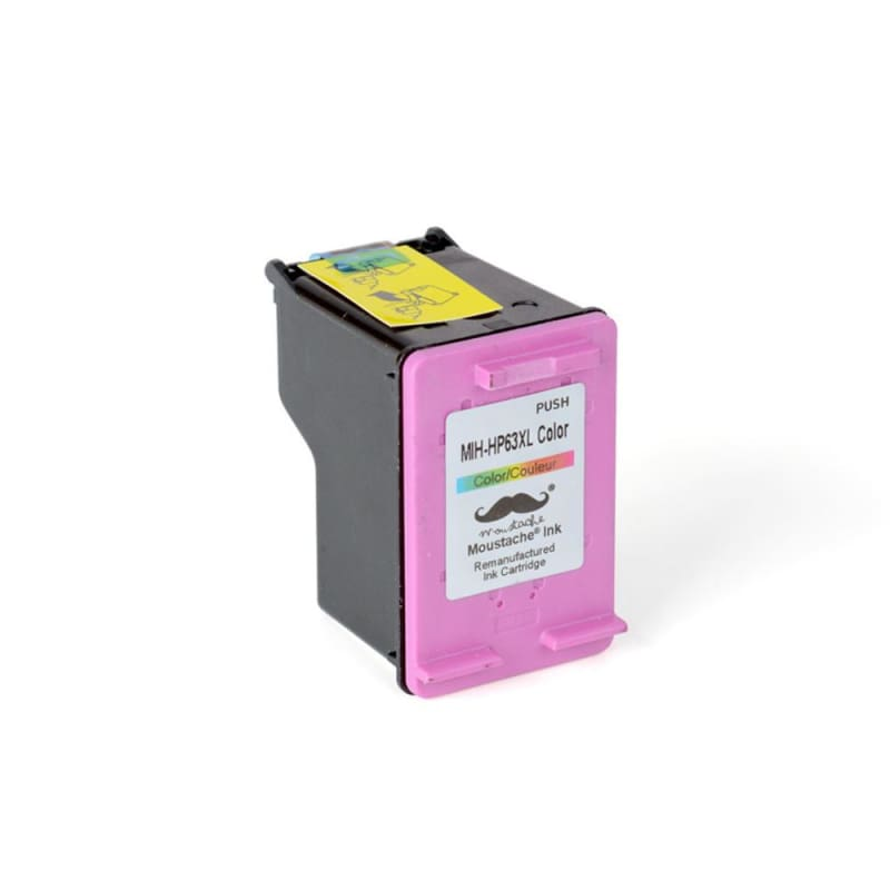Remanufactured HP 63XL F6U63AN Tri-Color Ink Cartridge High Yield - Moustache®
