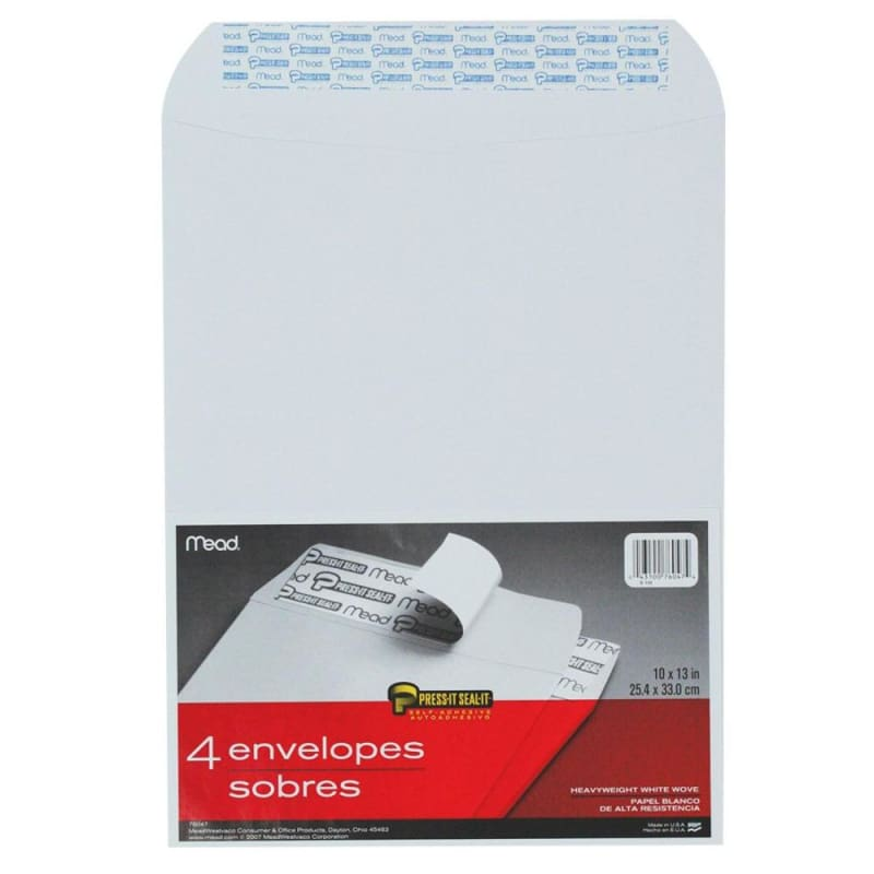 Mead® Press-it Seal-it™ Self-adhesive Closure White Envelope