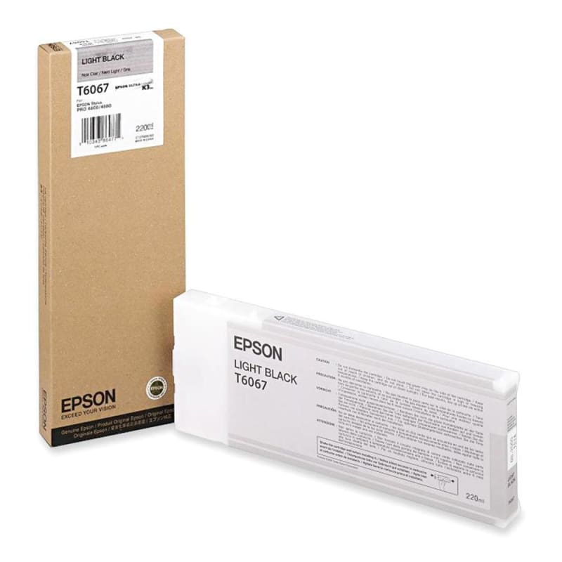 Epson T606700 Original Light Black Ink Cartridge