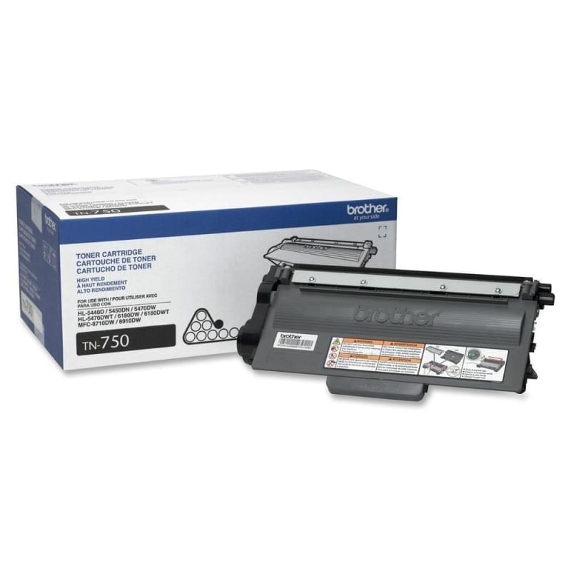 Brother TN-750 Original Black Toner Cartridge High Yield