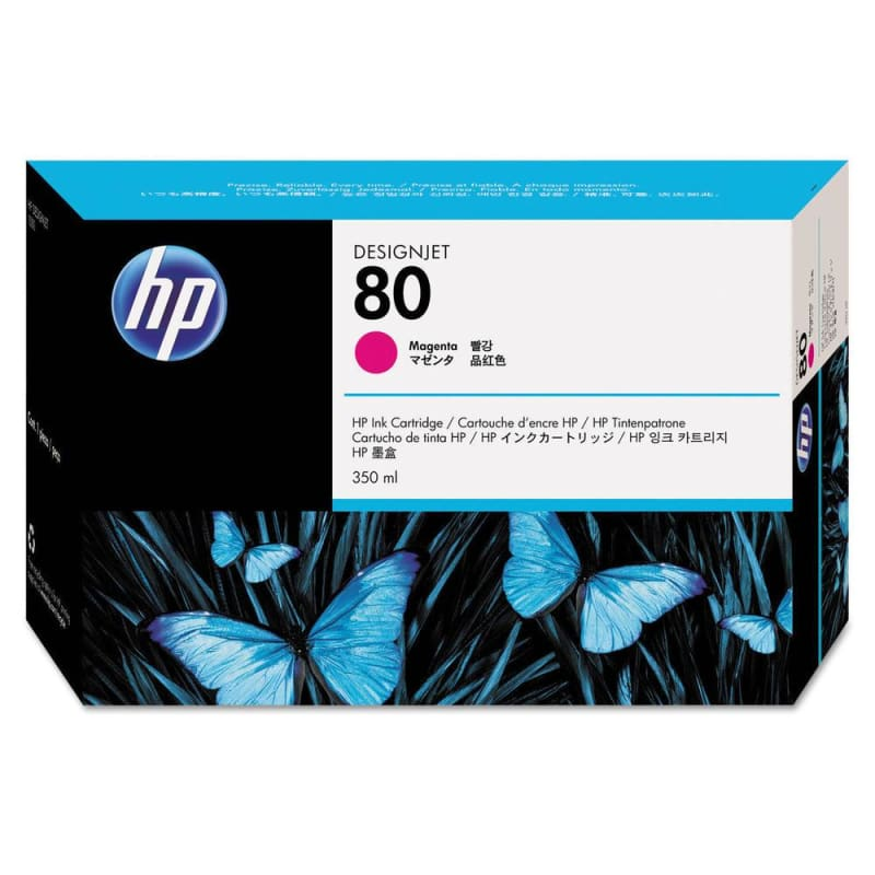 HP 80 C4847A Original Magenta Ink Cartridge 350ml
