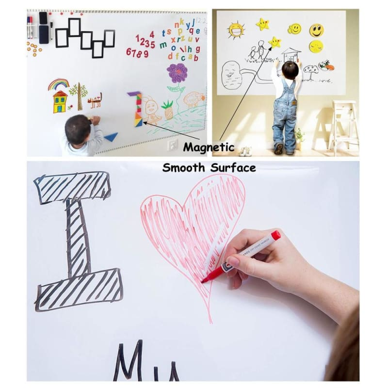 Magnetic Whiteboard Wall Self-Adhesive Sticker, 0.6m x 1m - Moustache®