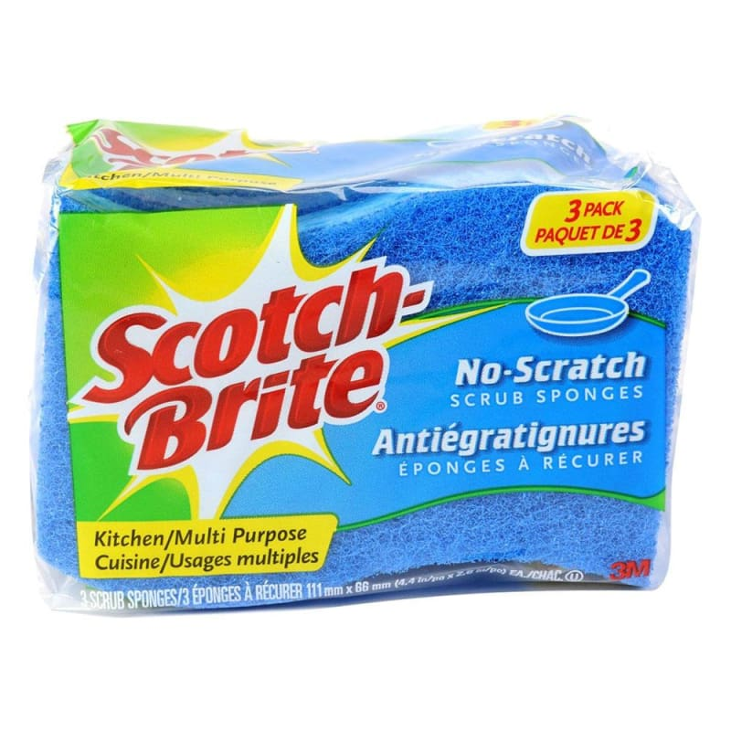 Scotch-Brite® No-Scratch Scrub Sponge, 3-Count 190678