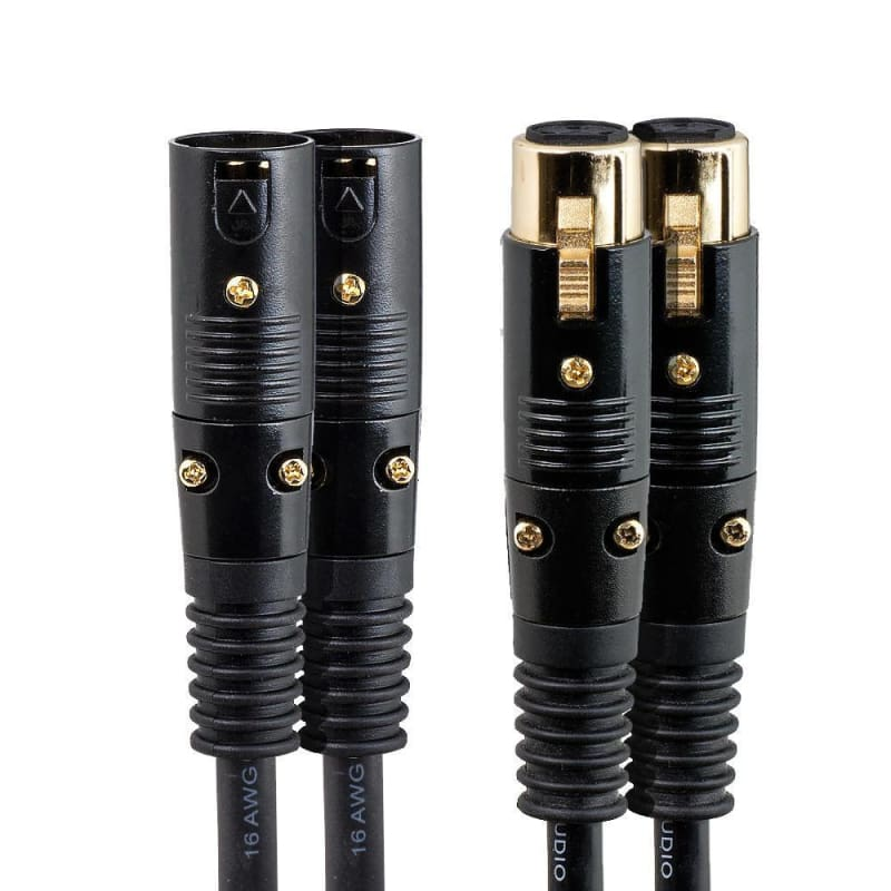 1.5ft Premier Series XLR M/F 16AWG Cable (Gold Plated) [Microphone & Interconnect] - PrimeCables®
