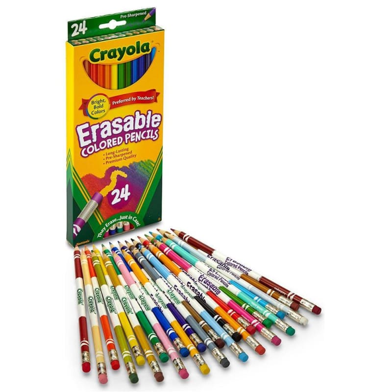 Crayola® Erasable Coloured Pencils - 24 Colours 722512