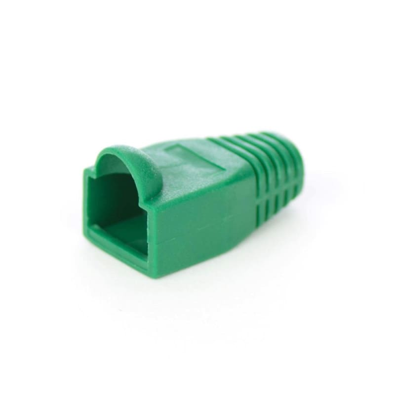 Cat5e Cat6 RJ45 Ethernet Network Cable Strain Relief Boots, 50 Pcs/Bag - Green - PrimeCables®