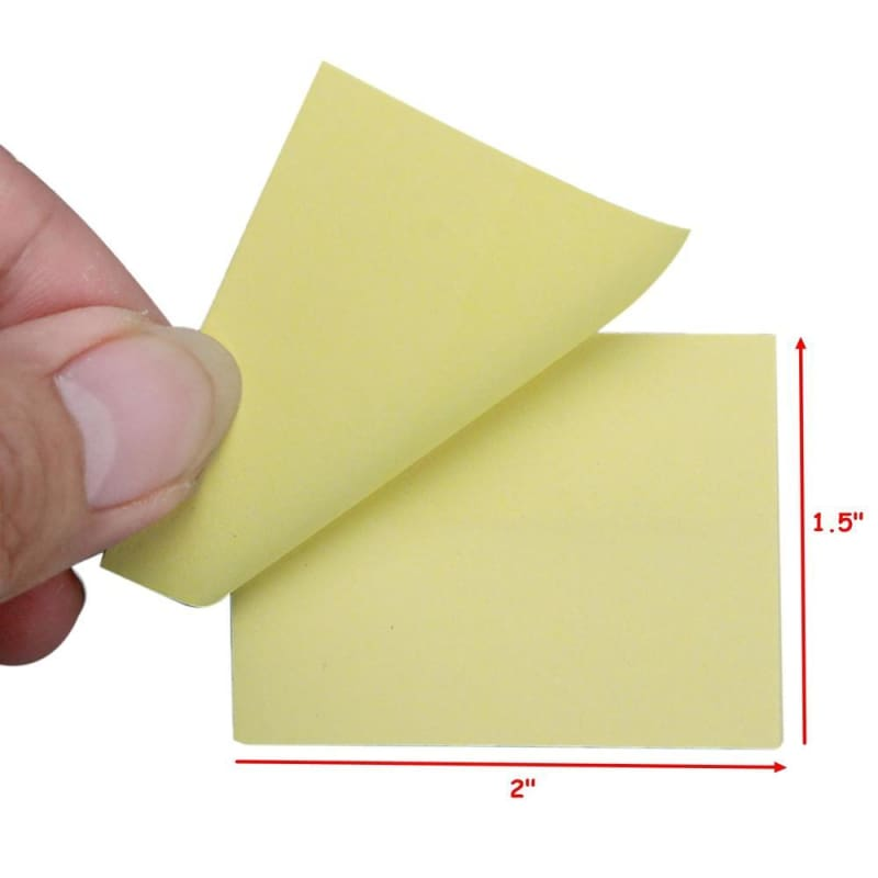 Self-Stick Notes, Yellow, 100 Sheets/Pack - Moustache®