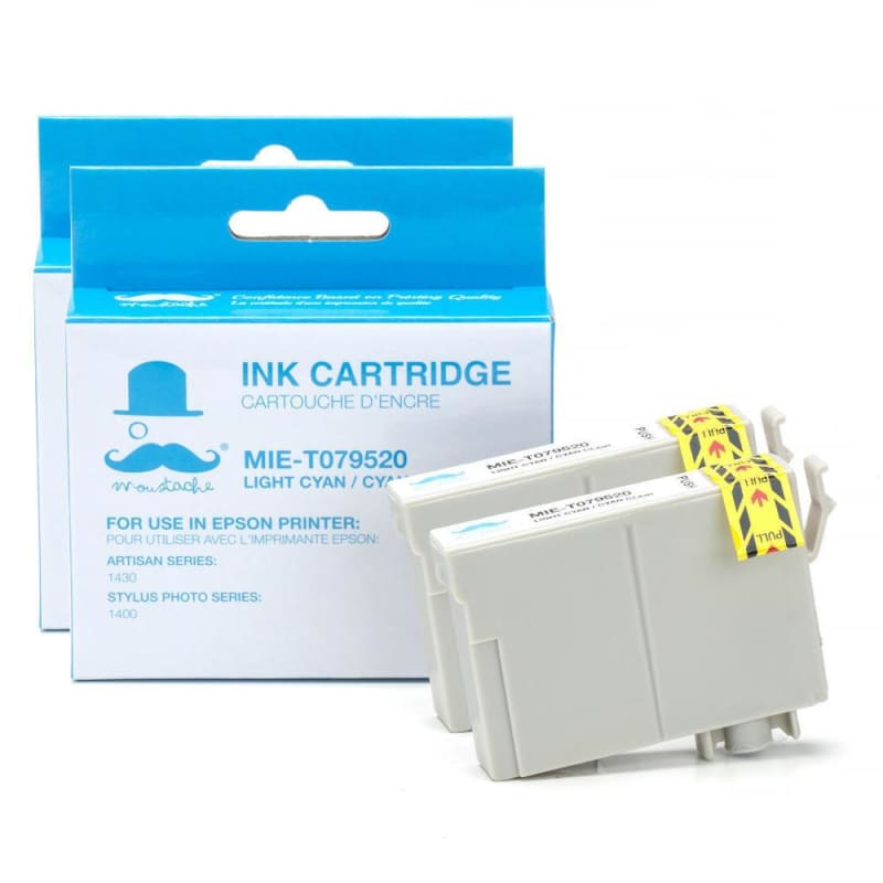 Compatible Epson 79 T079520 Light Cyan Ink Cartridge High Yield - Moustache®