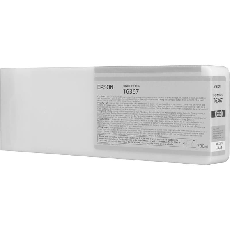 Epson T636700 700ml Original Light Black Ink Cartridge High Yield