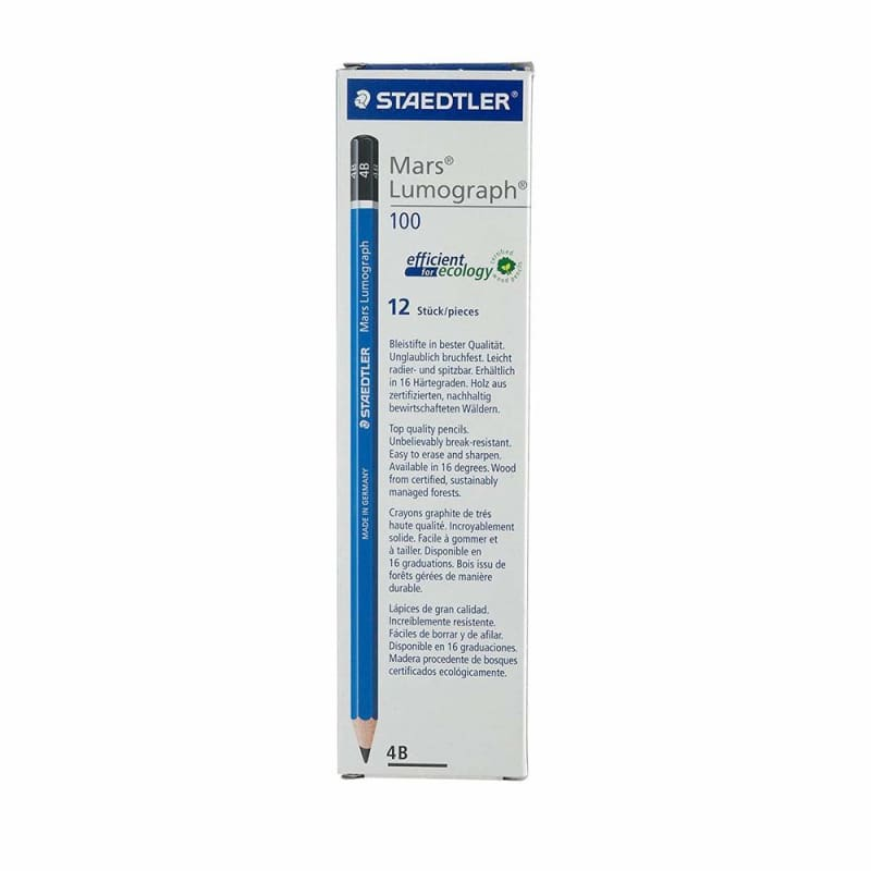 Staedtler® Mars® Lumograph® Drawing Sketching Pencils, 12/Pack