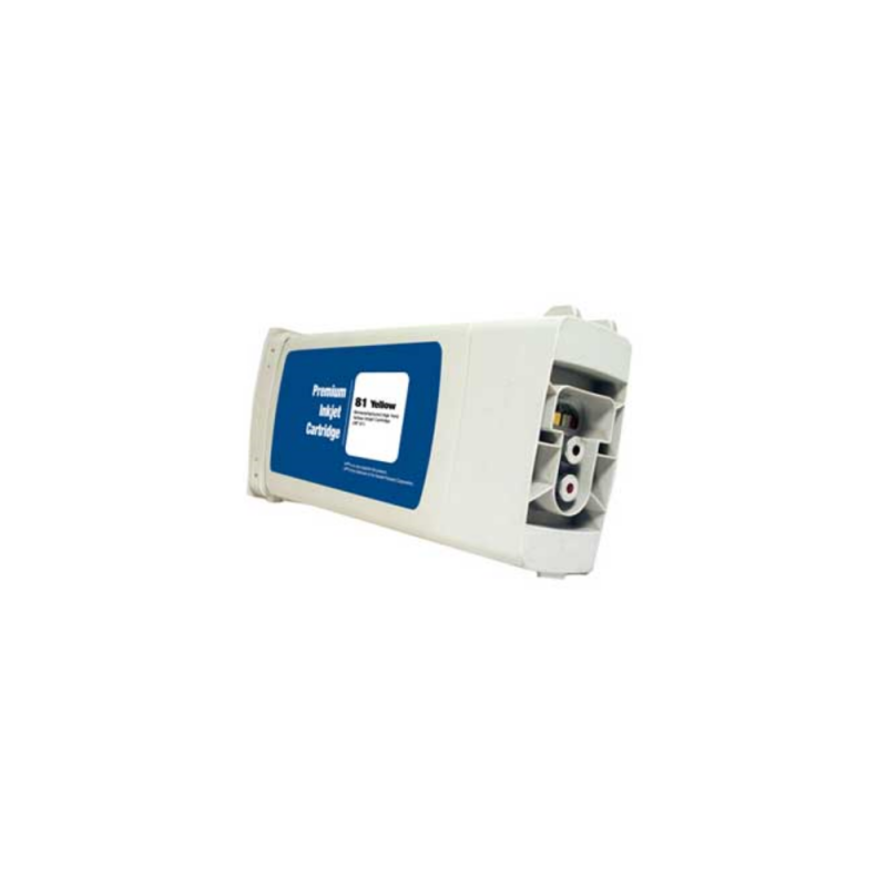 Remanufactured HP 81 C4933A Yellow Ink Cartridge