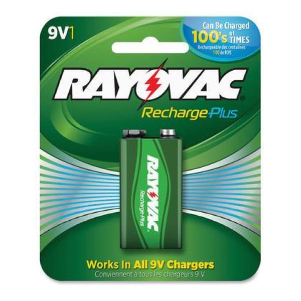 Rayovac 9V Rechargeable NiMH Batteries 1-Pack